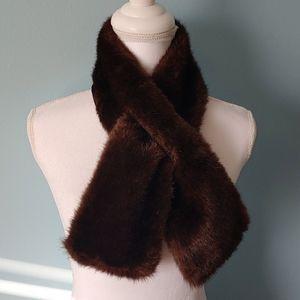 Brown fur scarf stole